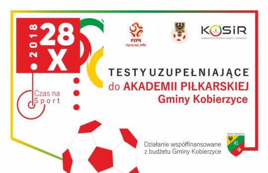 Testy uzupełniające do Akademii Piłkarskiej Gminy Kobierzyce