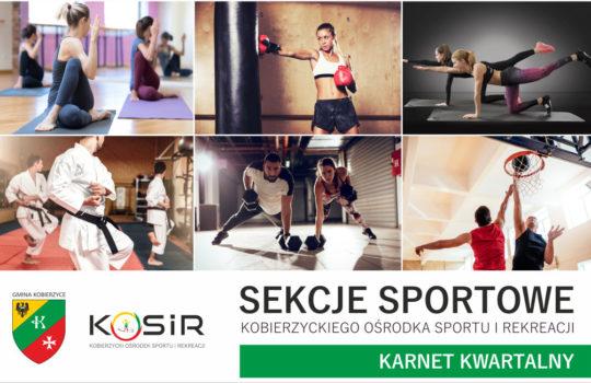 Karnety na zajęcia sportowe sekcji KOSIR (osoby pełnoletnie)