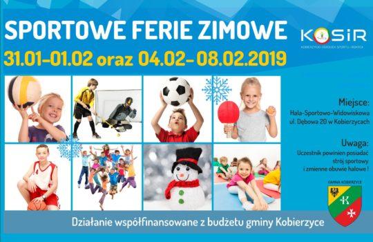 Sportowe ferie zimowe w KOSIR 31.01-1.02 oraz 4.01-8.02.2019