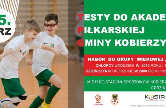 Testy do Akademii Piłkarskiej Gminy Kobierzyce