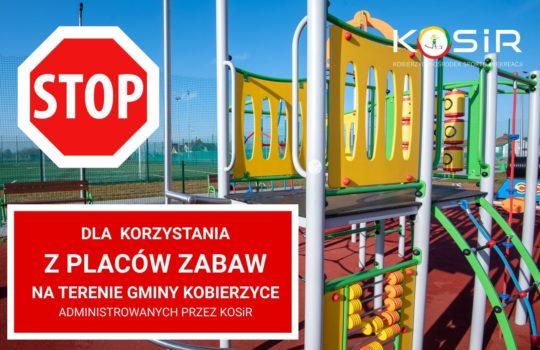 Stop dla korzystania z placów zabaw na terenie Gminy Kobierzyce